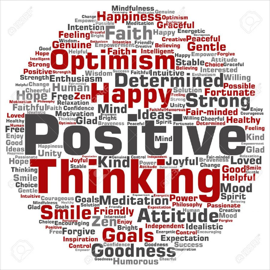 Vector+concept+or+conceptual+positive+thinking%2C+happy+strong+attitude+word+cloud+isolated+on+background