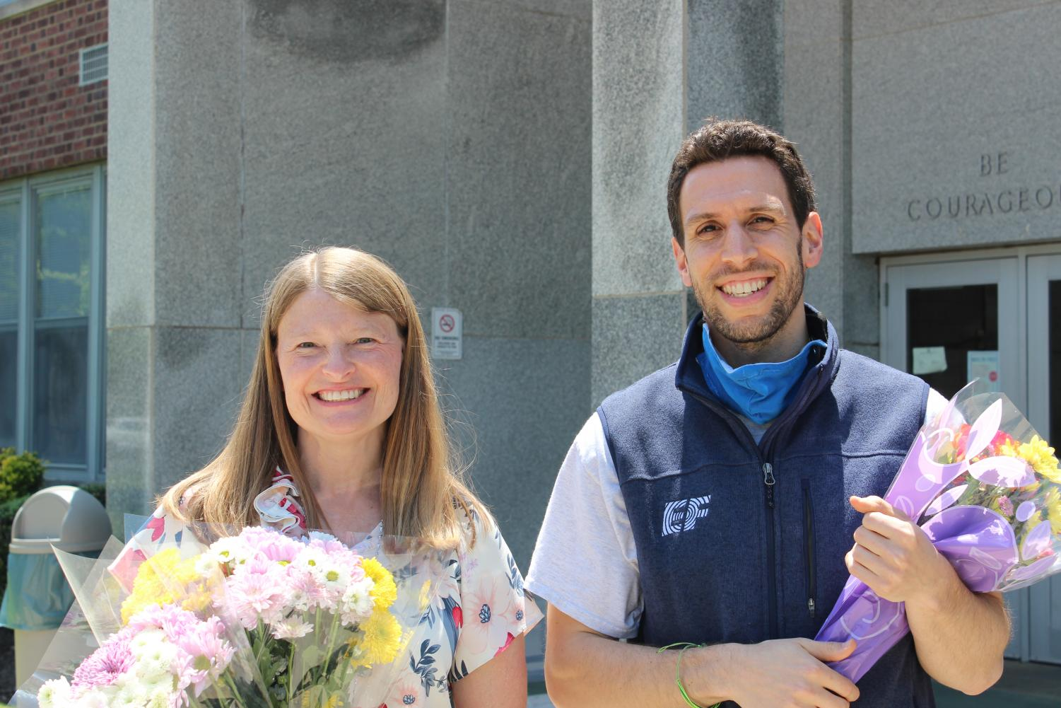 """The EIS """"Teacher Of The Year"""" awarded to Mr. Lazarow and Mrs. Swenson"""